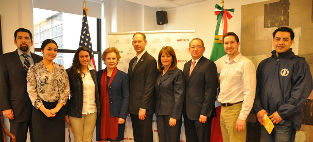 Signers of the OSHA Alliance with the Consulate of Mexico in New York