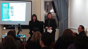 OSHA Area Director Diana Cortez and Consulate General of El Salvador in NYC, Sandra Marisol Cruz.