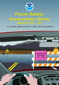 National Flood Awareness Week poster
