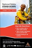 National Safety Stand-down poster