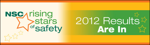 NSC Rising Stars of Safety - 2012 Results are in