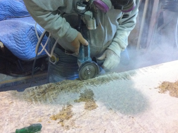 Cutting stone can generate dangerous crystalline silica dust