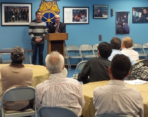 Dr. David Michaels addresses participants at a Jan. 9 Spanish-language safety training in New York City