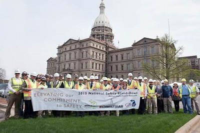Stand-Down in Michigan As part of the stand-down, the Michigan Occupational Safety and Health Administration, the Christman Company, and Associated General Contractors of Michigan joined together to elevate their commitment to safety at the Michigan Capitol Building in Lansing. Roughly 50 people attended the stand-down, including the Christman Company construction crew working on the Michigan Capitol exterior restoration project