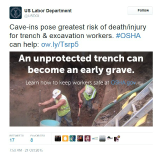 Trenching safety tweet