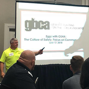 Photo of GBCA presentation - Eggs With OSHA