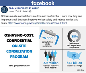 U.S. Department of Labor - Facebook post
