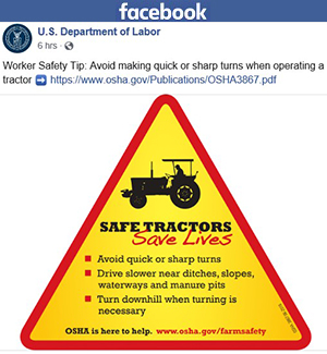 U.S. Department of Labor Facebook post