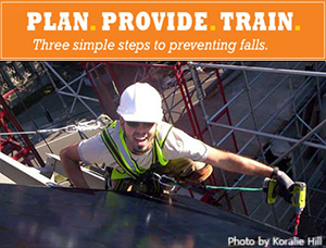 Plan. Provide. Train. Three simple steps to preventing falls.