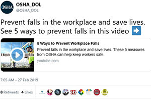 Prevent falls in the workplace and save lives. See 5 ways to prevent falls in this video