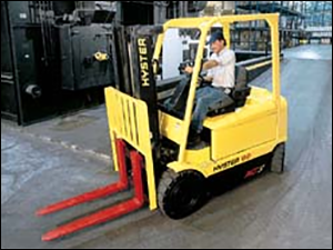 Photograph of a forklift in use