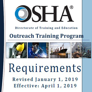 Screenshot of OSHA Outreach Training Program Requirements document