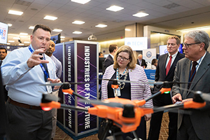 OSHA staff demonstrate how drones can help improve workplace safety during DOL Tech Day 2019.