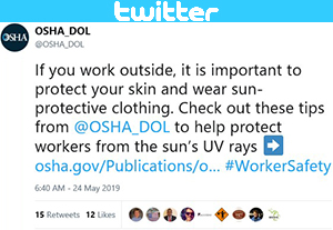 U.S. Department of Labor - Twitter post