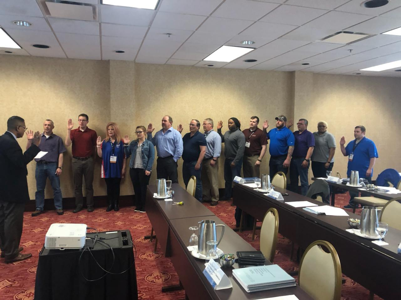 SGE training course conducted May, 2019 hosted by Region V VPPPA, in Grand Rapids, Michigan.
