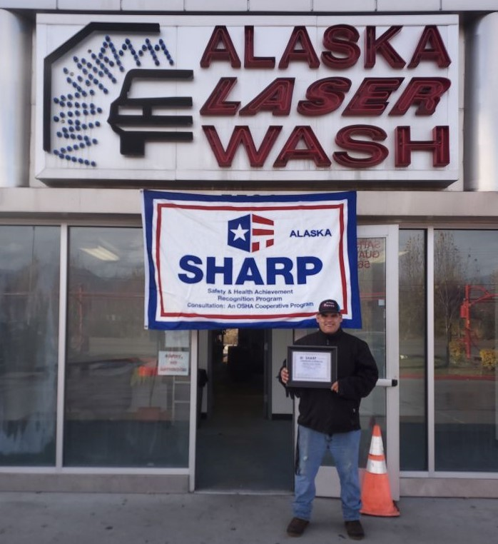 Alaska Laser Wash Earns SHARP Recognition