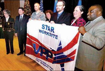 Wright-Patterson Air Force Base receives the VPP flag