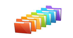 Illustration of folders