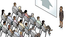 Illustration of a presentation